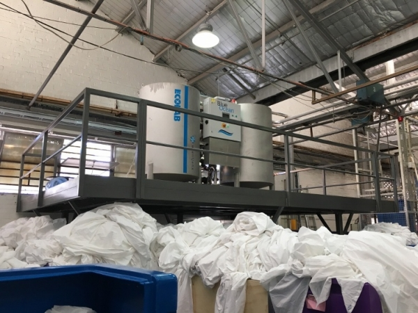 BlueOcean Blue Ocean Filter water energy recycling equipment for textile laundries in the commercial industrial laundry industry from Wientjens, Milsbeek, the Netherlands. Partner of Ecolab.
