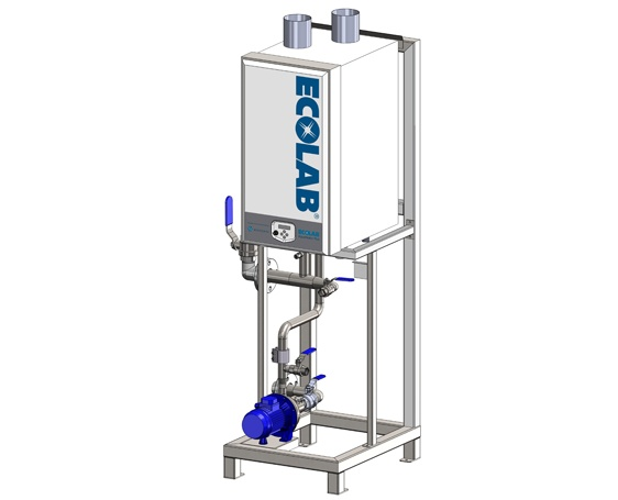 Hot water system for textile laundries. Aqua Heater from Wientjens, specialized equipment for the industrial laundry industry.