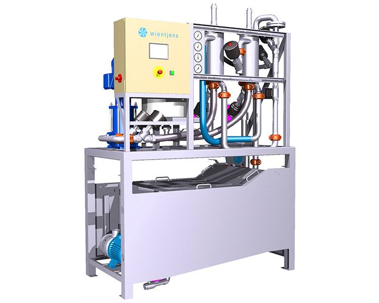 AquaMiser, Aqua Miser, Wientjens, recycles laundry process water for re-use. Depth filtration removes even hairs. Water savings for commercial laundries. Wientjens, partner of Ecolab Textile Care. Compact equipment for textile laundries in the industrial laundry industry.