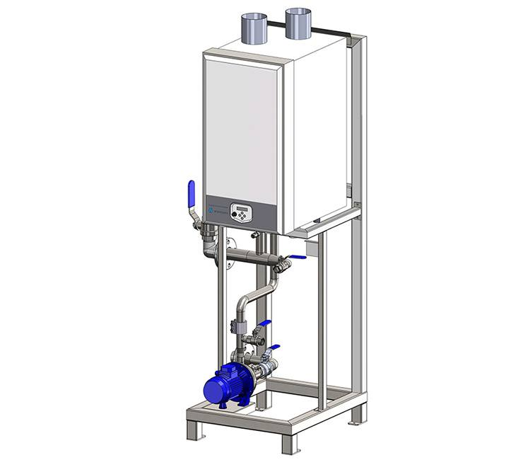 AquaHeater Plus T, Aqua Heater Plus T, Wientjens. Fresh water heated inexpensively exactly where you need it! Equipment for textile laundries in the industrial laundry industry. Partner of Ecolab and Christeyns.