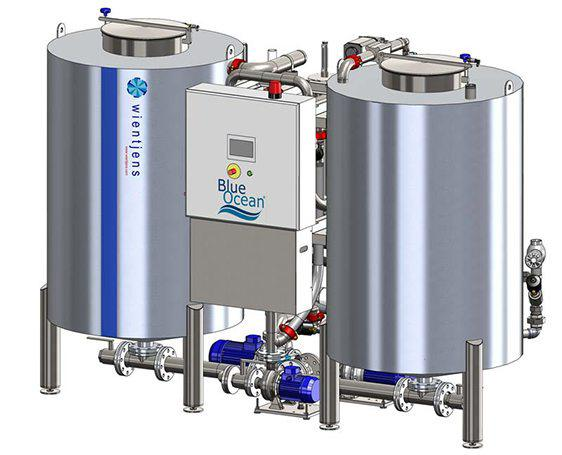 BlueOcean Blue Ocean Filter water energy recycling equipment for textile laundries in the commercial industrial laundry industry from Wientjens, Milsbeek, the Netherlands. Partner of Ecolab and Christeyns.